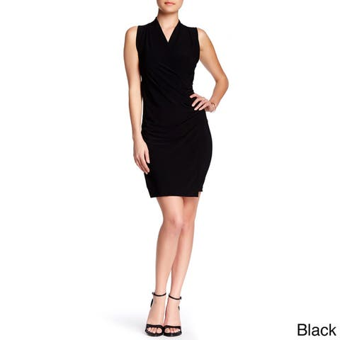 Women's Crossover Fitted Dress Short Dress Work Dress Cocktail Dress