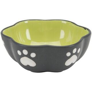 Two Tone Color Design 5in Stoneware Dish Green