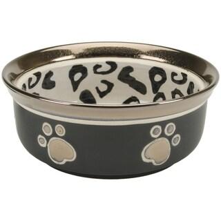 Leopard Print & Paw Print Design Stoneware Dish