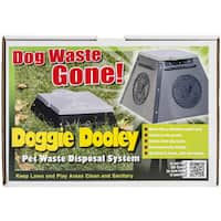Doggie Dooley In Ground Dog Waste Toilet 14inX14inX10in - Grey