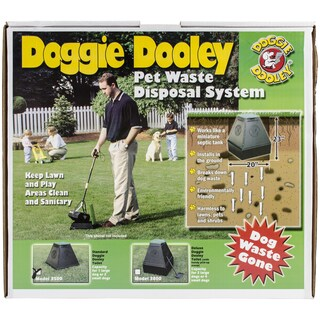 Doggie Dooley In Ground Dog Waste Toilet 23inx20inx20in 23x20x20