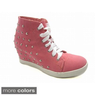 Women's 'Attie' Canvas Fabric Ankle Height Sneakers