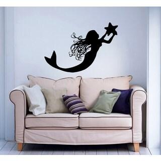 Mermaid Star Vinyl Sticker Wall Art
