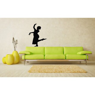 Hindu Girl Dancing Woman Silhouette Vinyl Sticker Wall Art