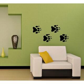 Animal Footprints Predator Wolf Bear Vinyl Sticker Wall Art