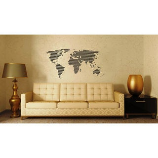 World Map Vinyl Sticker Wall Art