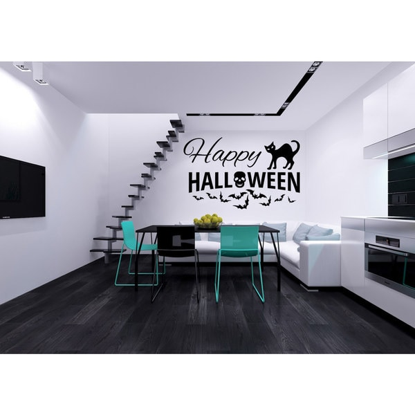 Happy Halloween Vinyl Sticker Wall Art