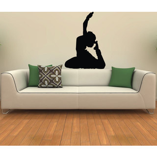 Hindu Indian Girl Dancing Vinyl Sticker Wall Art
