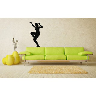 Hindu Indian Girl Dancing Woman Silhouette Vinyl Sticker Art