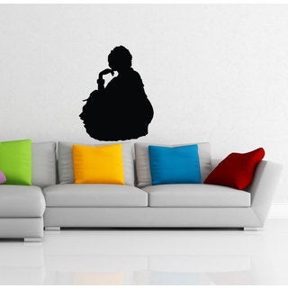 Indian Hindu Girl Dancing Silhouette Vinyl Sticker Wall Art