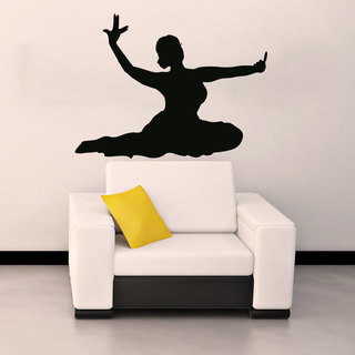 Hindu Indian Girl Dancing Woman Silhouette Vinyl Sticker Wall Art