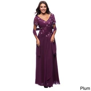 DFI Women's Lace & Sequin Detail Gown
