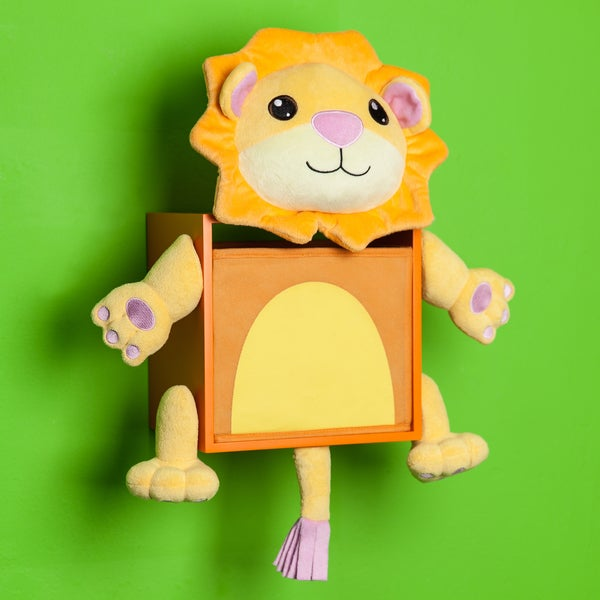 Danya B. Plush Lion Kids Wall Storage Bin