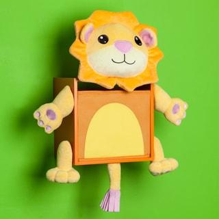 Danya B Plush Lion Kids Wall Storage Bin