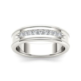 De Couer 14k White Gold 1/3ct TDW Diamond Men's Wedding Band (H-I, I2)