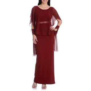 DFI Women's Capulet Sleeve Gown wit h Wrap