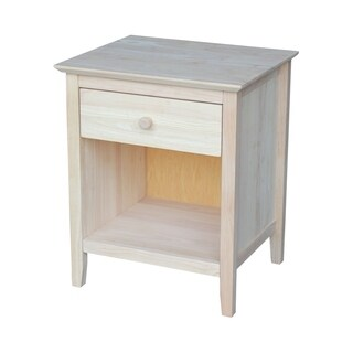 Ready to Finish Nightstand with One Drawer