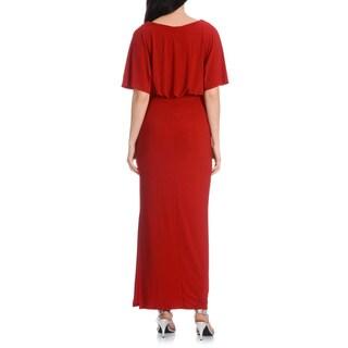 DFI Women's Rhinestone Embellished Waist Dress