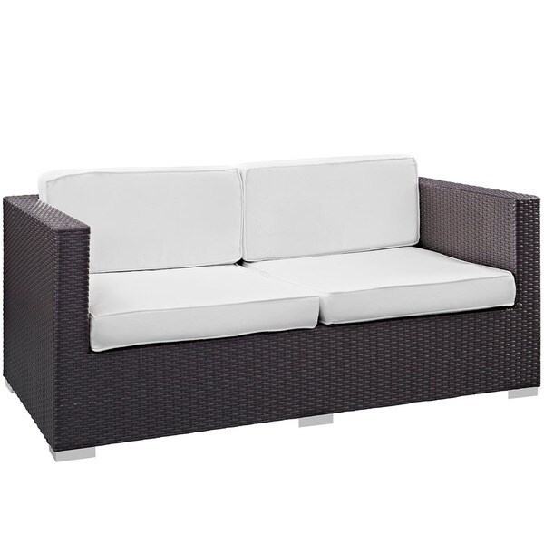 Modway U0027Gatheru0027 Outdoor Patio Loveseat   Free Shipping Today    Overstock.com   17365033