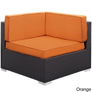 Modway Gather Corner Sectional Outdoor Patio (Set of Two) (Espresso Orange)