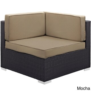 Modway Gather Corner Sectional Outdoor Patio (Set of Two) (Espresso Mocha)