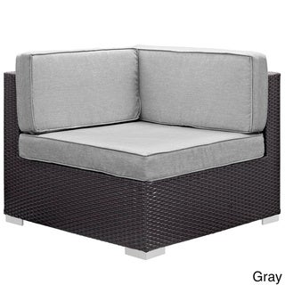 Modway Gather Corner Sectional Outdoor Patio (Set of Two) (Espresso Grey)