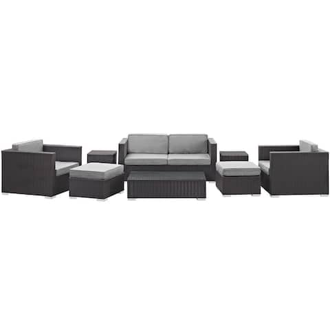 Modway 'Blanch' 8-Piece Outdoor Patio Sofa Set