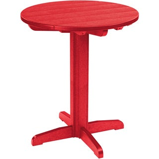 Generations Red 32-inch Round Pub Height Pedestal Table