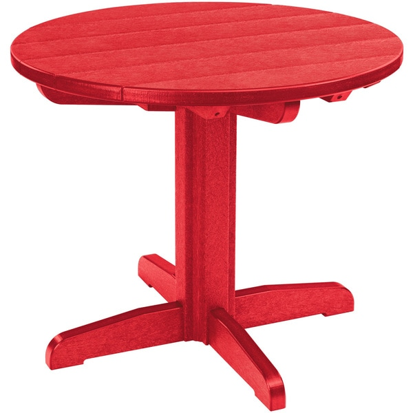 Red Round Dining Table: Shop Generations Red 32-inch Round Dining Pedestal Table