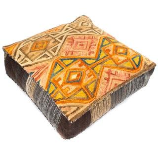 Handmade Wool Izel Pouf Floor Cushion