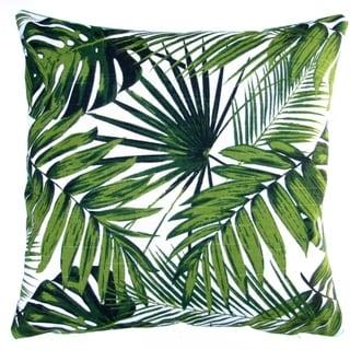 Artisan Pillows 18-inch Tropical Botanics Green Palm Leaf Throw Pillow