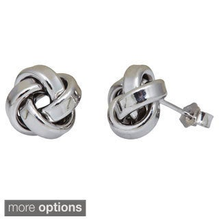 Decadence Sterling Silver Italian Love Knot Stud Earrings