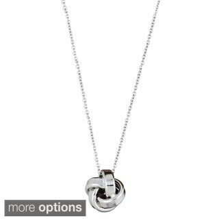 Decadence Sterling Silver Italian Love Knot Necklace