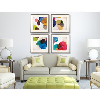 Orbe Aura 4-piece Framed Art Print Set