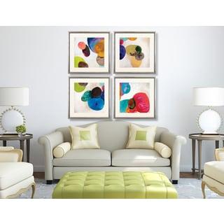 Orbe Aura 4-piece Framed Art Print Set