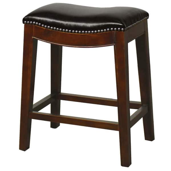 Excellent Shop Elmo Bonded Leather Counter Stool Free Shipping Today Andrewgaddart Wooden Chair Designs For Living Room Andrewgaddartcom