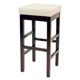 Copper Grove Pennyrile Backless Leather Square Bar Stool