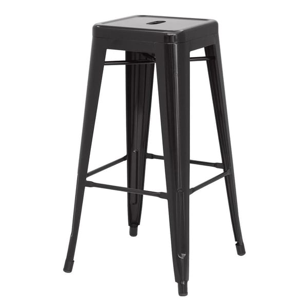 metropolis metal backless counter stool set of 4