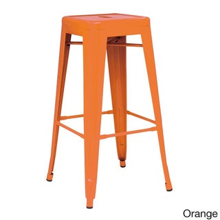 Metropolis Metal Backless Counter Stool (Set of 4)