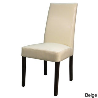 Hartford Bonded Leather Chair (Set of 2) (Beige - Leather/Wood)