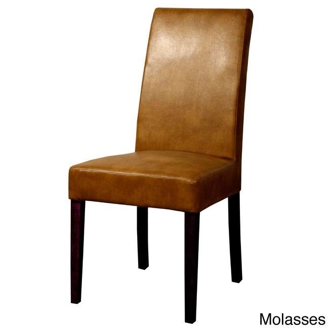 Hartford Bonded Leather Chair (Set of 2) (Molasses), Brown