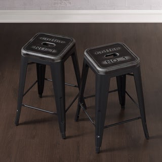 Tabouret Counter Stools with Stamped Seat (Set of 2)