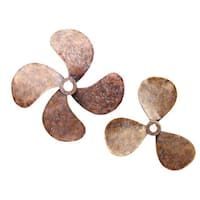 Aurelle Home Brass Wall Decor Propeller (Set of 2)
