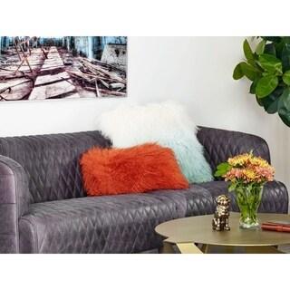 Aurelle Home Soft Mongolian Lamb Decorative Pillow