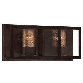 Varaluz Jackson 2-light Vanity, Rustic Bronze