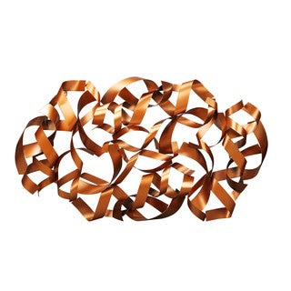 Aurelle Home Ribbons Goldtone Sculpture Metal Wall Decor