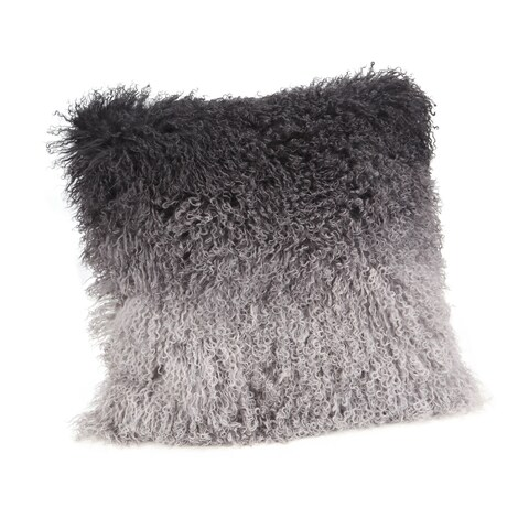 Aurelle Home Lamb Pillow Grey Spectrum 22-inch Throw Pillow