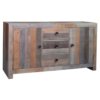 Aurelle Home Distressed Farmhouse Vintage Large Sideboard