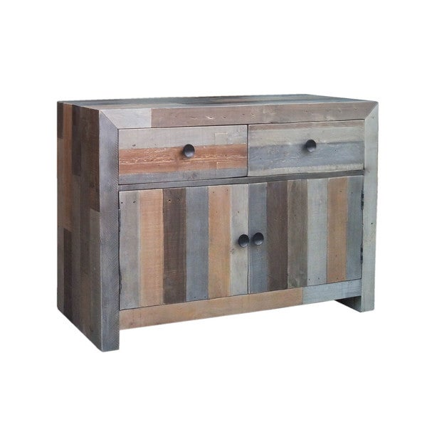 Aurelle Home Distressed Vintage Small Sideboard