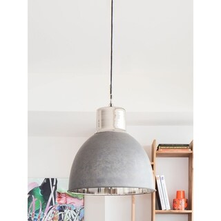 Aurelle Home Lotte Large Dining Pendant Lamp Silver